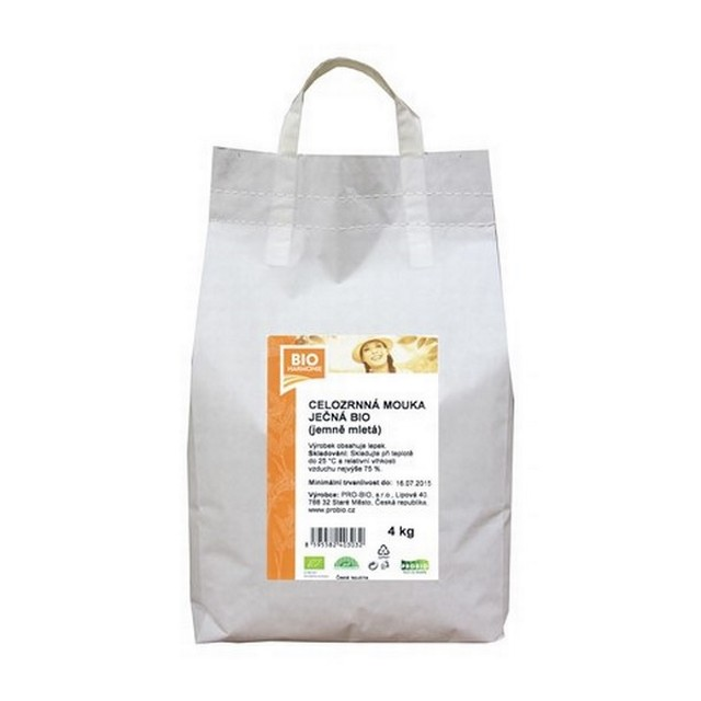 GASTRO - Celozrnná mouka ječná (jemně mletá) BIO - 1 KS (4 kg)