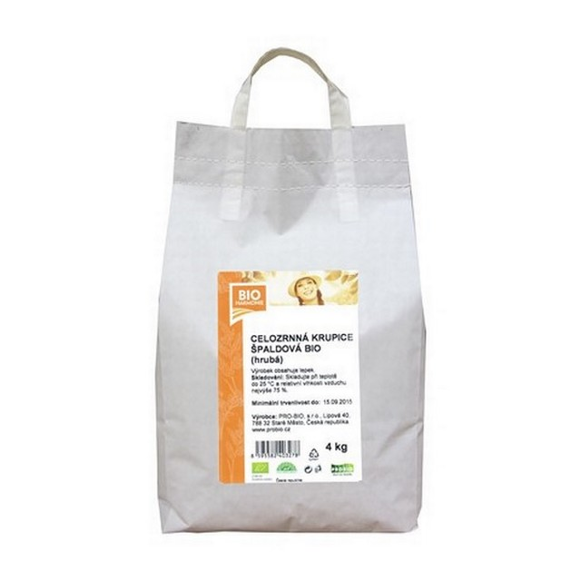 GASTRO - Celozrnná krupice špaldová (hrubá) BIO  1 KS (4 kg)