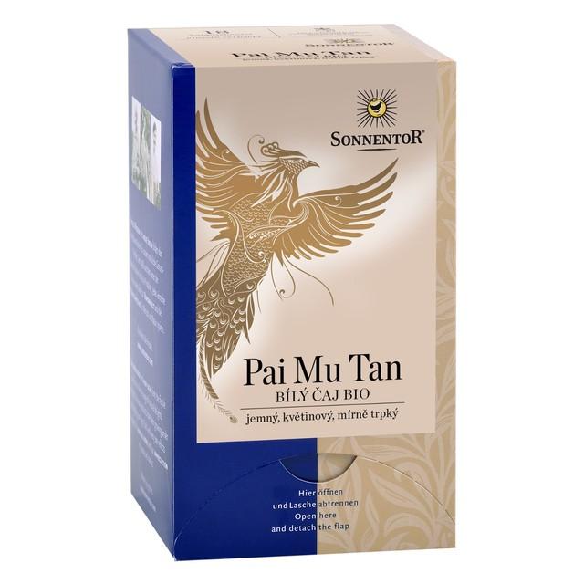Čaj BIO - Bílý Pai mu tan 20g (zelený) přebal