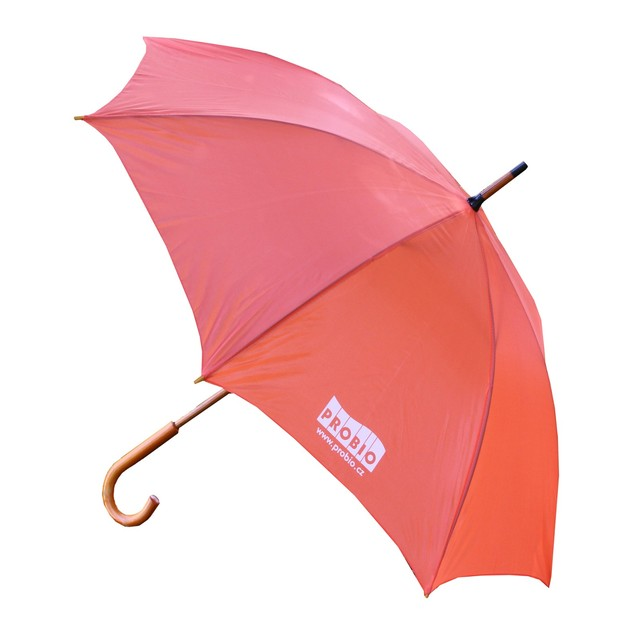 Deštník oranžový - logo PRO-BIO