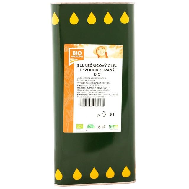 G - Olej slunečnicový (dezodorizovaný) BIO 1 KS (5 l)