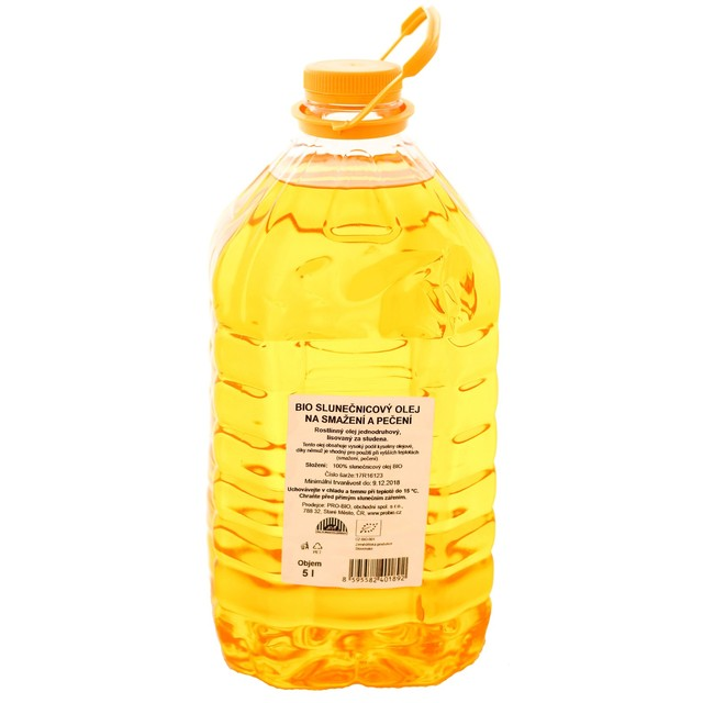 G - Olej  sluneč. na pečení a smažení  BIO - 1 KS (5 l)