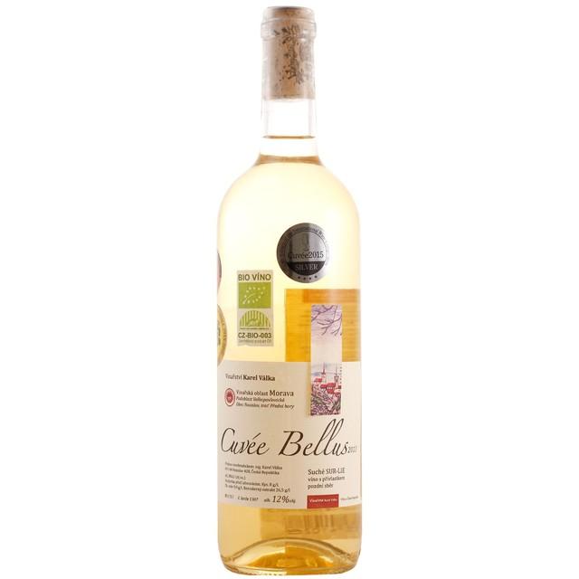 Víno bílé Cuvée Bellus sur-lie ročník 2013 VINAŘSTVÍ VÁLKA - pozdní sběr BIO 0,75l (suché)