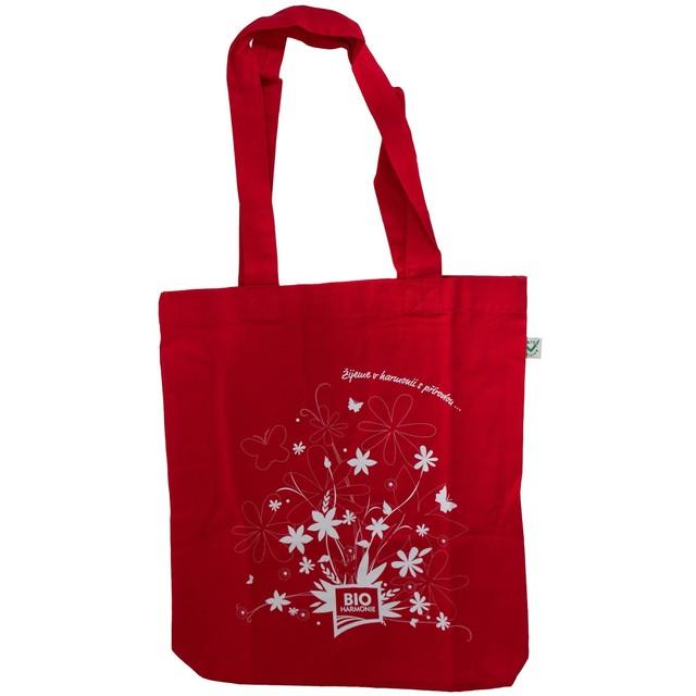 Plátěná taška z BIO bavlny červená (bioharm)