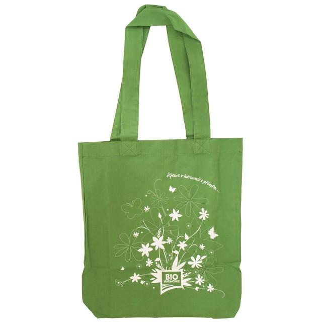Plátěná taška z BIO bavlny zelená (bioharmonie)