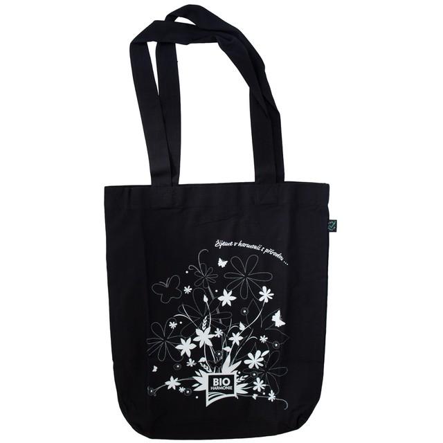 Plátěná taška z BIO bavlny černá (bioharmonie)