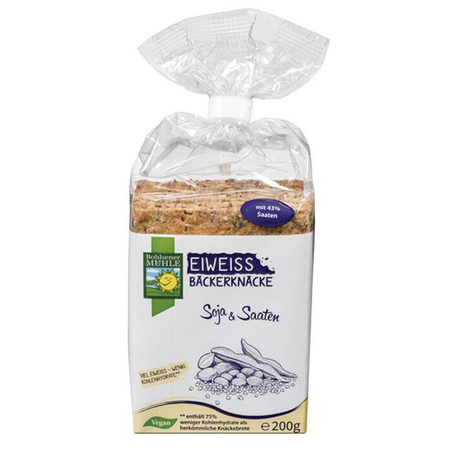 9Proteinový křupavý chlebíček se sójou a semínky BOHLSENER MÜHLE 200 g DO VYPRODÁNÍ ZÁSOB