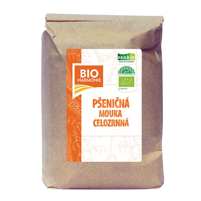 Celozrnná mouka pšeničná BIO - 1 kg (HRUBĚ mletá)