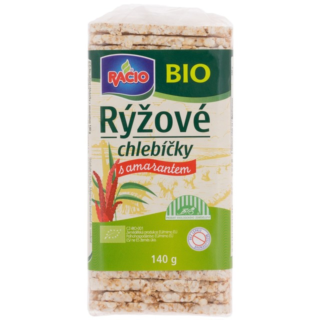 Rýžové chlebíčky s amarantem  RACIO BIO 140 g