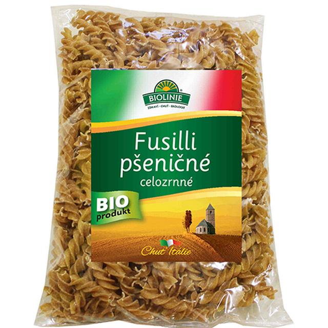 BIOLINIE celozrnné fusilli pšeničné BIO 500g