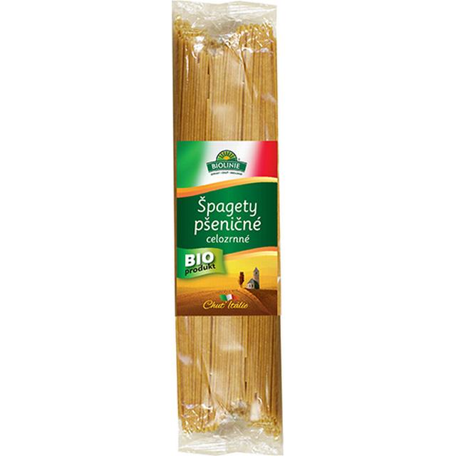 BIOLINIE celozrnné špagety pšeničné BIO - 500g