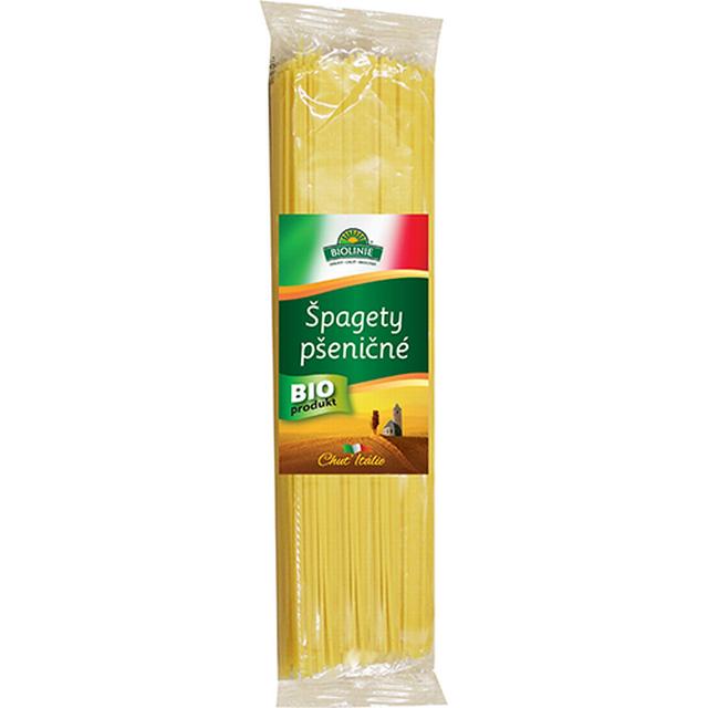 BIOLINIE špagety pšeničné BIO (bílé) - 500g