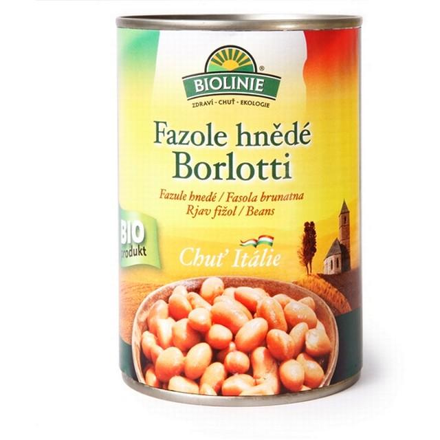 BIOLINIE KONZERVA fazole hnědé Borloti BIO 400 g
