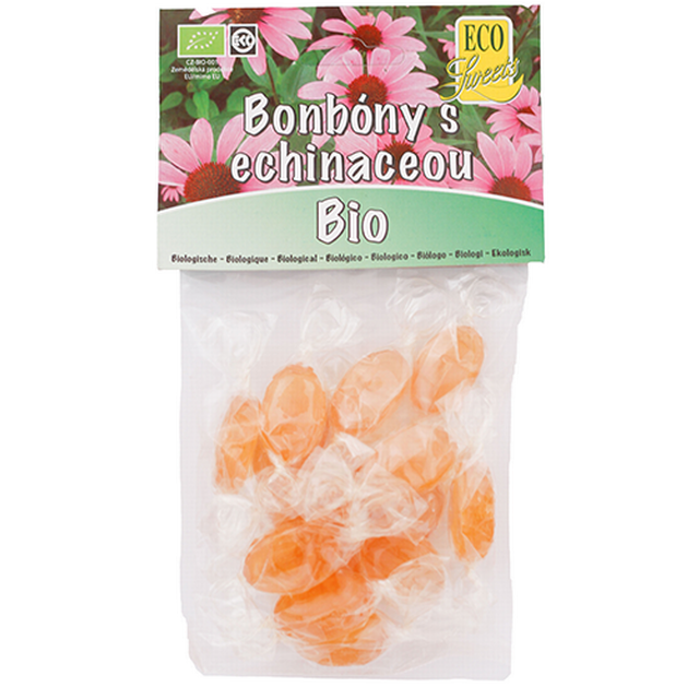 Bonbóny s echinaceou - bez cukru BIO 75 g