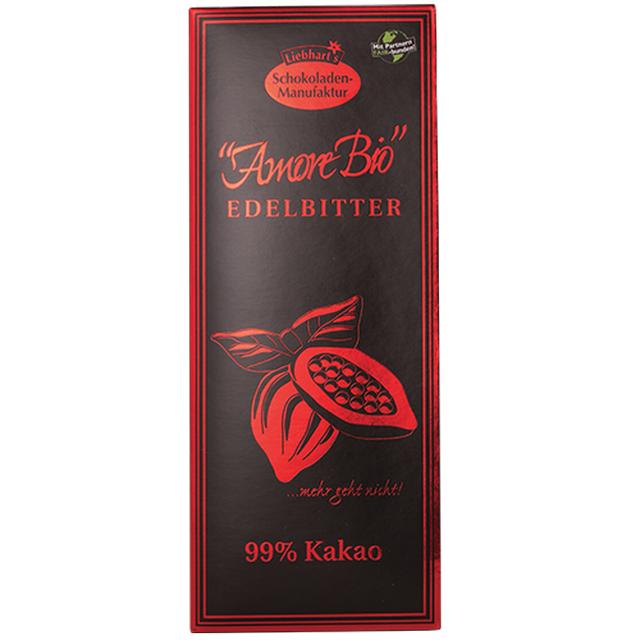 Hořká čokoláda 99% kakao Liebharts BIO 80 g