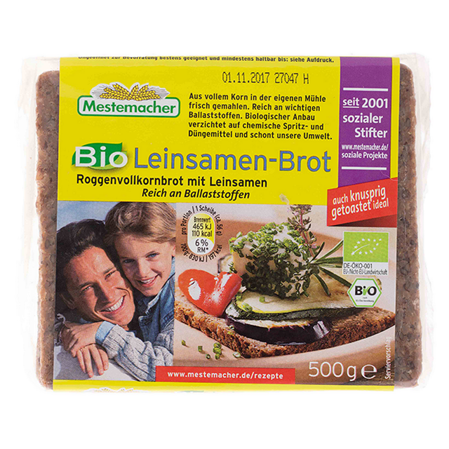 Chléb lněný BIO MESTERMACHER 500 g