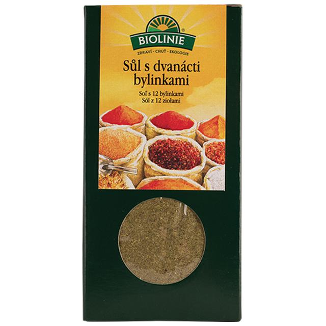 BIOLINIE sůl s 12-ti bylinkami BIO - 120g
