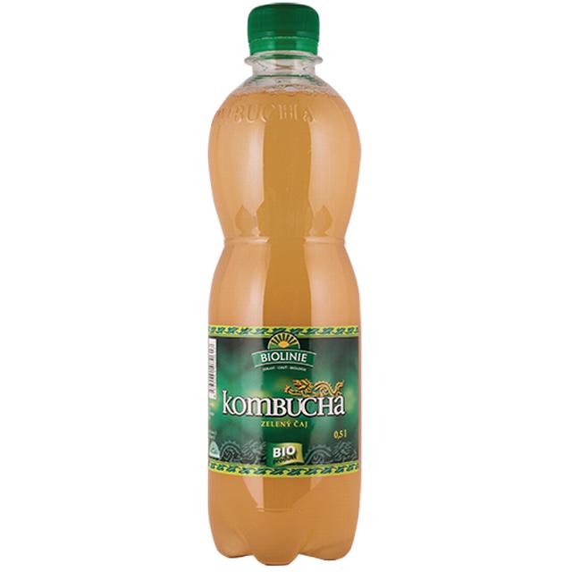BIOLINIE kombucha zelený čaj BIO - 500 ml