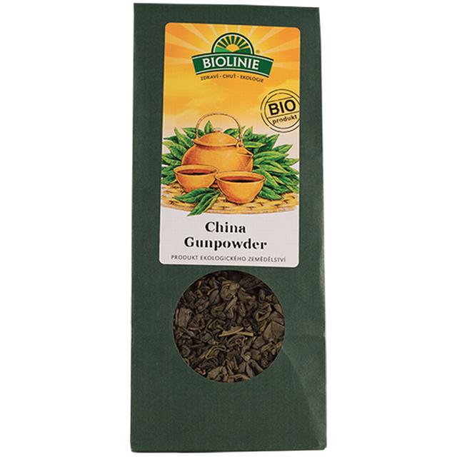 "BIOLINIE Čaj China Gunpowder syp. BIO 50g """