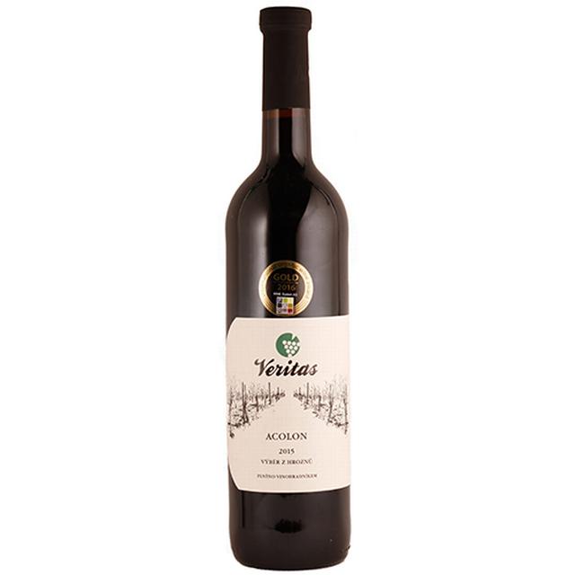 Víno červené Acolon VERITAS - víno s přívlastkem, výběr z hroznů BIO 0,75 l