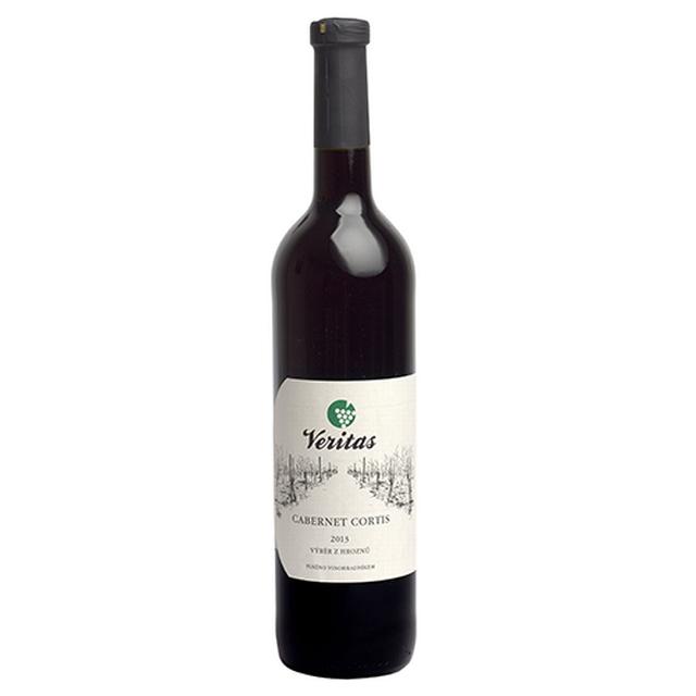 Víno červené Cabernet Cortis ročník 2015 VERITAS - výběr z hroznů( suché) BIO 750 ml