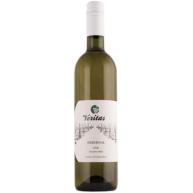 Víno bílé Hibernal ročník 2016  VERITAS - pozdní sběr BIO 0,75l