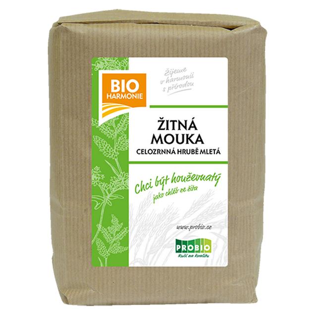 Celozrnná mouka žitná (HRUBĚ mletá) BIO 1 kg
