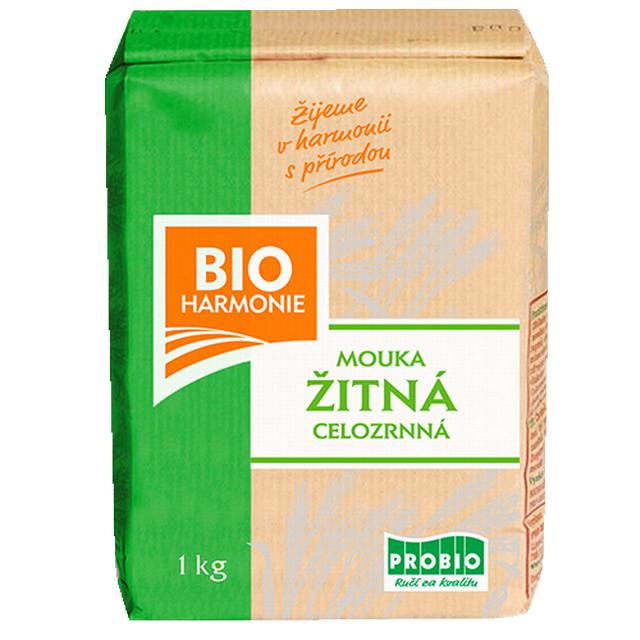 Celozrnná mouka žitná (jemně mletá) BIO 1 kg