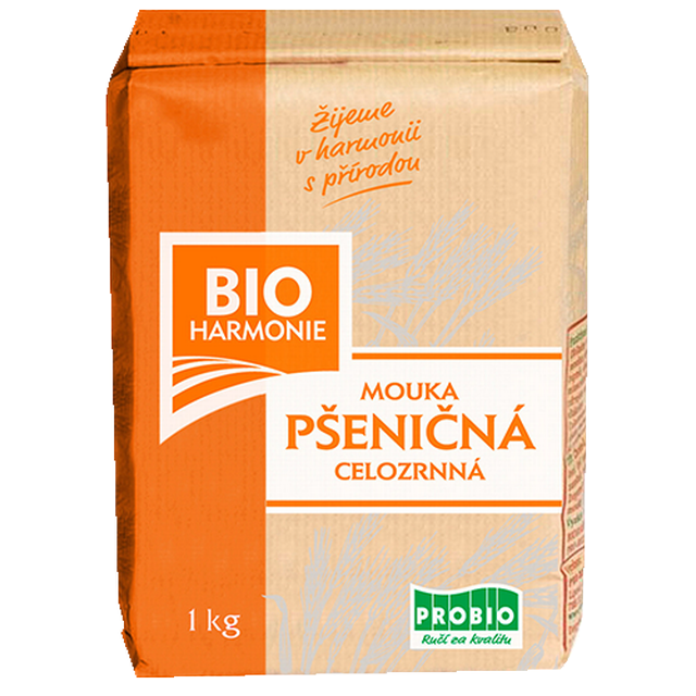 Celozrnná mouka pšeničná (jemně mletá) BIO 1 kg
