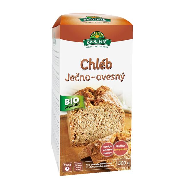 BIOLINIE Chléb ječno-ovesný (směs na pečení) BIO 500g DO VYPRODÁNÍ ZÁSOB