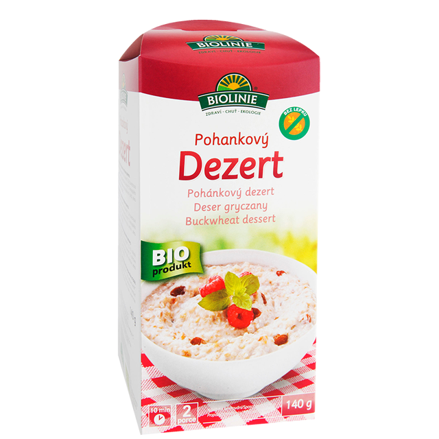 BIOLINIE pohankový dezert BIO - 140g (b)