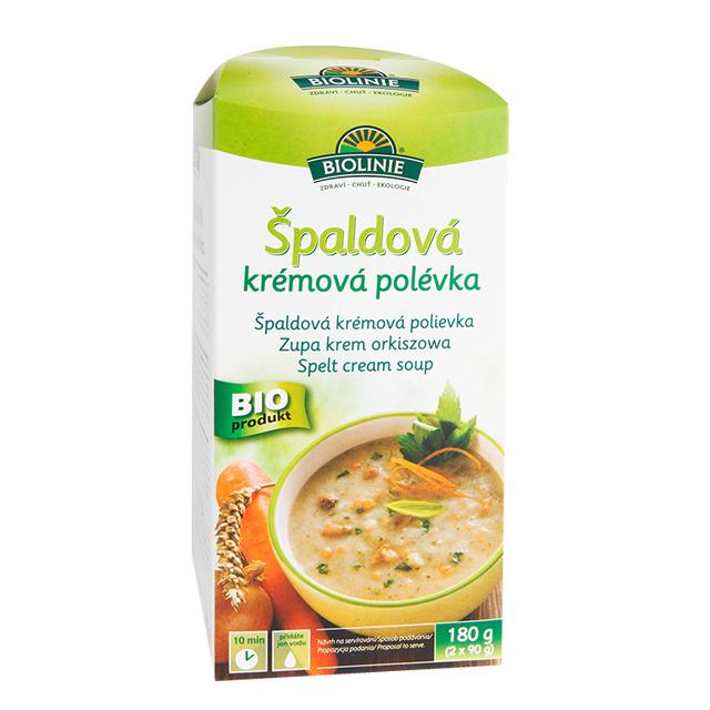 BIOLINIE špaldová krémová polévka BIO 180 g