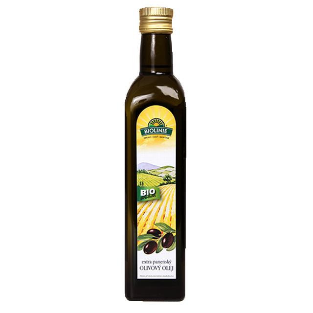 BIOLINIE extra panenský olivový olej BIO 0,5 l