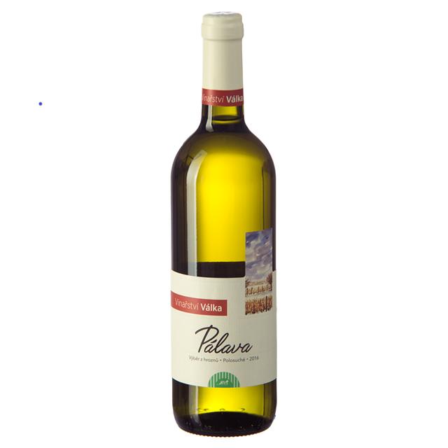 Víno bílé Pálava ročník 2016 Válka -  výběr z hroznů (polosuché) 750 ml