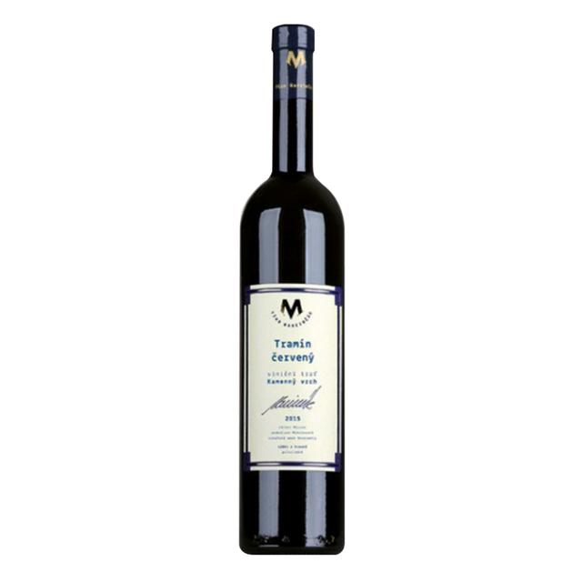 Víno bílé Tramín červený ročník 2015 Marcinčák - výběr z hroznů (polosladké) BIO 750 ml