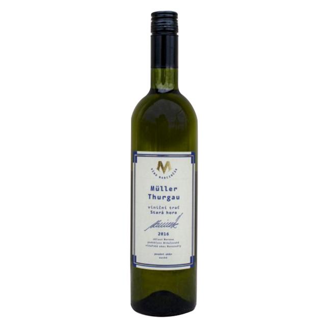 Víno bílé Müller Thurgau ročník 2016 Marcinčák - pozdní sběr (suché) BIO 750 ml