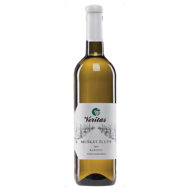 Víno bílé  Muškát žlutý ročník 2015 Veritas BIO 750ml