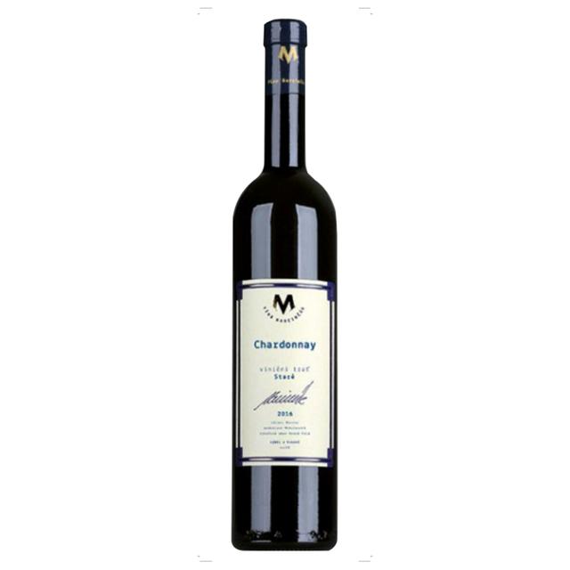 Víno bílé Chardonnay ročník 2016 Marcinčák - výběr z hroznů (suché) BIO 750 ml