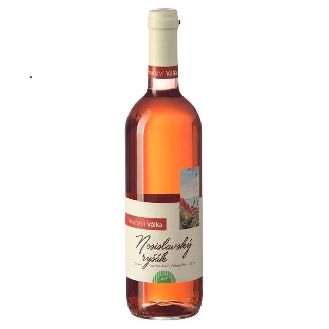 Víno růžové Nosislavský ryšák ročník 2016 Válka - pozdní sběr (polosuché) 750 ml