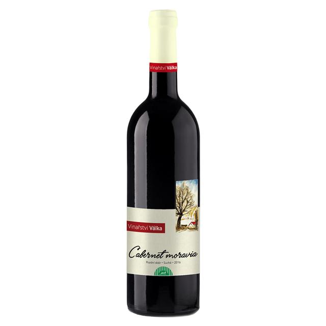 Víno červené Cabernet Moravia ročník 2016 Válka - pozdní sběr (suché) 750 ml
