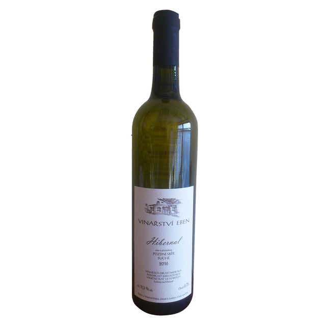 Víno bílé Hibernal ročník 2016 Eben - pozdní sběr (suché) 750 ml