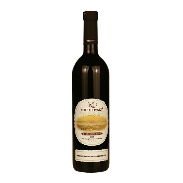 Víno bílé Hibernal ročník 2015 Michlovský BIO - Pozdní sběr (suché) 750ml