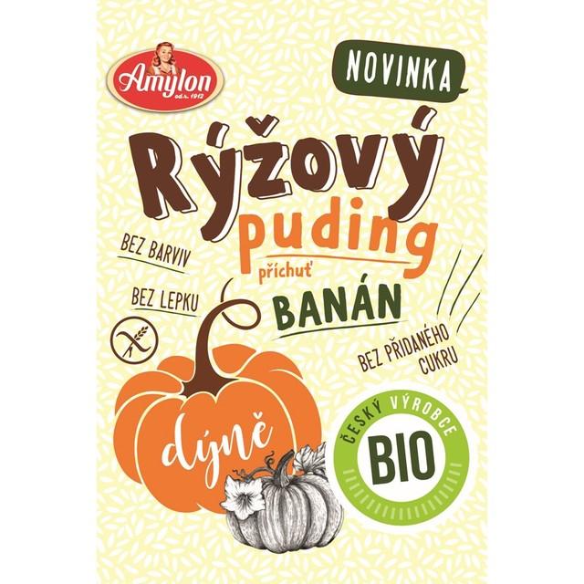 Puding rýžovo-dýňový s příchutí banánu AMYLON BEZLEPKOVÝ BIO 40 g