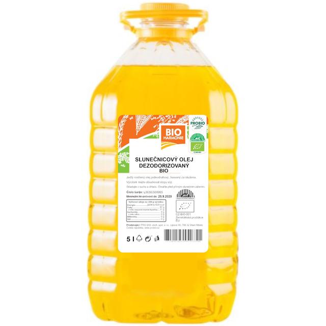GASTRO - Olej slunečnicový (dezodorizovaný) BIO 1 KS (5 l)