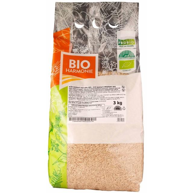 GASTRO - Rýže basmati natural BIO 1 KS (3 kg)