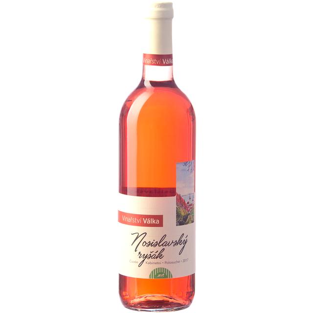Víno růžové  Nosislavský ryšák ročník 2017 Válka - pozdní sběr (polosuché) 750 ml BIO VÁLKA